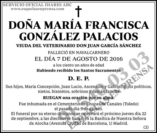 María Francisca González Palacios